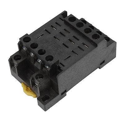 PTF14A-E 14 Screw Terminal Relay Socket Base DIN Rail for HH64P Y4NJ 5piece details about ptf14a relay socket base for ly4nj hh64p l power relay brand new