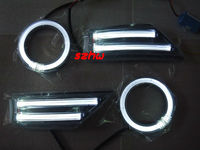July King LED Light Guide Daytime Running Lights Case for Ford Focus 2007~2014, 1 pair Angel Eyes Rings DRL + 1 pair = DRL