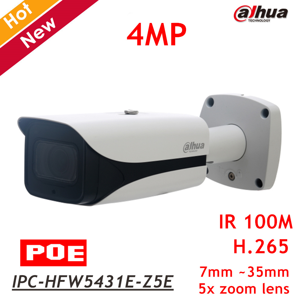 2018 New Dahua 4MP POE IP Camera IPC-HFW5431E-Z5E 7mm-35mm 5x zoom lens IR Distance 100m IP67 Support SD card 128g Security cam ipc floor pca 6114p10 rev b1 100% test