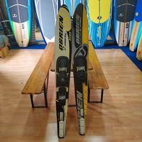 Взрослых снегоходы сноуборд сани стекловолокна углеродное волокно Лыжный Спорт автомобиль skibob