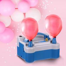 Портативный надувной электрический насос с двумя отверстиями, вилка US/EU, воздуходувка для воздушных шаров, насос высокого напряжения с двумя отверстиями, устройство для накачивания