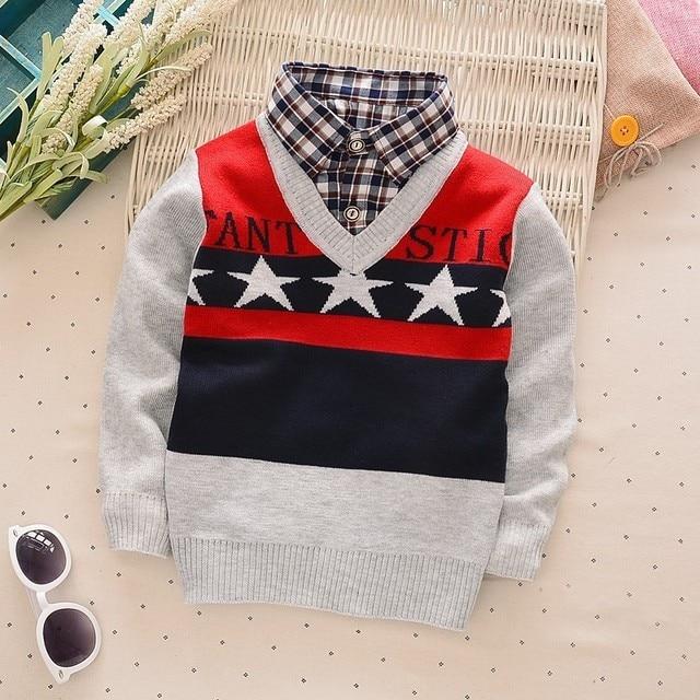 8aad2e5b6 NYSRFZ 2017Children Sweaters Shirts baby boys girls knitted warm ...