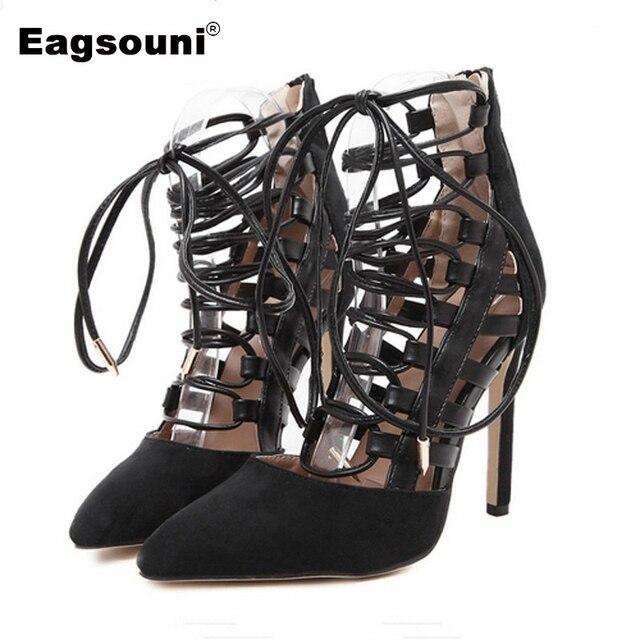 fa5c9e434 Plus Size 35-42 Sandálias das Mulheres do Verão Feminino Moda Casual Aberto  Toe Rendas