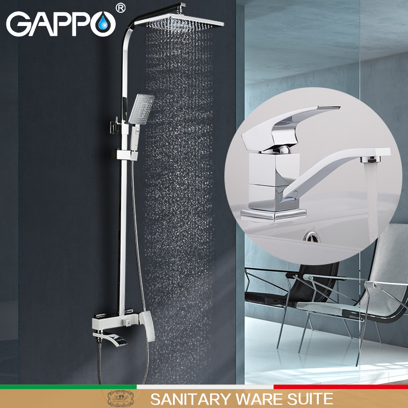 GAPPO Shower Faucets bath tap mixer bathroom mixer basin faucet brass water mixer tap Sanitary Ware Suite Sanitary Ware Suite