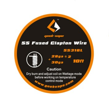 GeekVape Fused Clapton SS316 Tape Wire (28GA*2/Paralleled + 30GA) for DIY electronic cigarette tank coil accessory цена