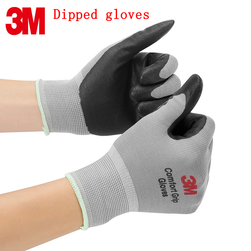 3M Protective Gloves Comfort Breathable Dipping Working Gloves Wearable Non-slip Labor Protection Gloves