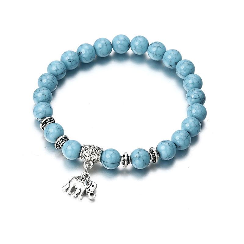 Браслет классический акриловый синий бисерный браслет для мужчин женщин лучший друг популярный A56 - Окраска металла: ns44