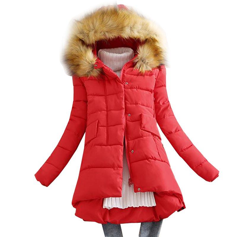 Winter Jacket <font><b>Women</b></font> 2016 <font><b>New</b></font> Medium Long Down Cotton <font><b>Coat</b></font> <font><b>Women</b></font> Slim <font><b>Wadded</b></font> Jacket <font><b>Faux</b></font> <font><b>Fur</b></font> Collar <font><b>Hooded</b></font> <font><b>Fashion</b></font> Jacket YU0060