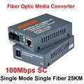 Htb-3100ab fibra óptica Media Converter fibra transceptor de fibra convertidor 25 km SC el 10 / 100 M monomodo fibra del solo
