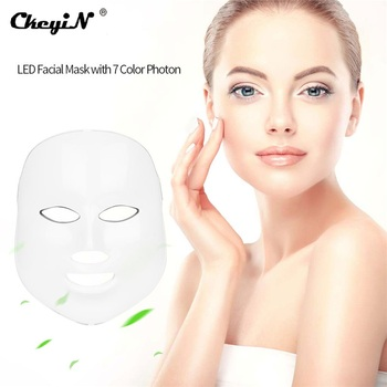 LED Facial Mask 7 Color Photon Facial Mask Whitening Wrinkle Acne Removal Face Skin Care Rejuvenation Beauty Mask Device 40