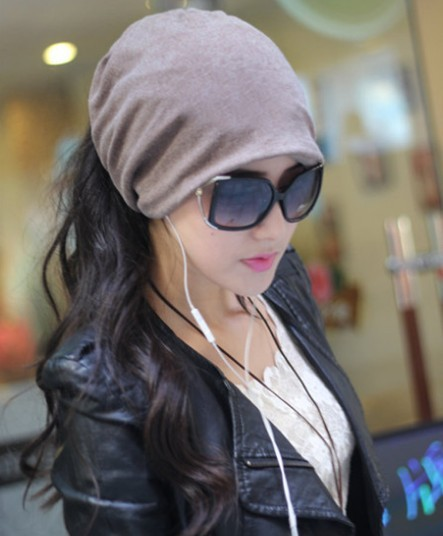 Casual Double Use Beanie Neck Scarf