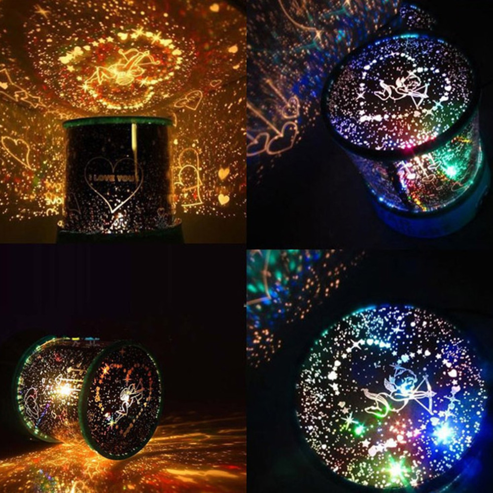 Star map projector lamp - 2016 New Arrival Romantic Lover Cupid Led Lamp Beauty Master Star Light Colorful Night Projector Holidy Christmas Gift Lights