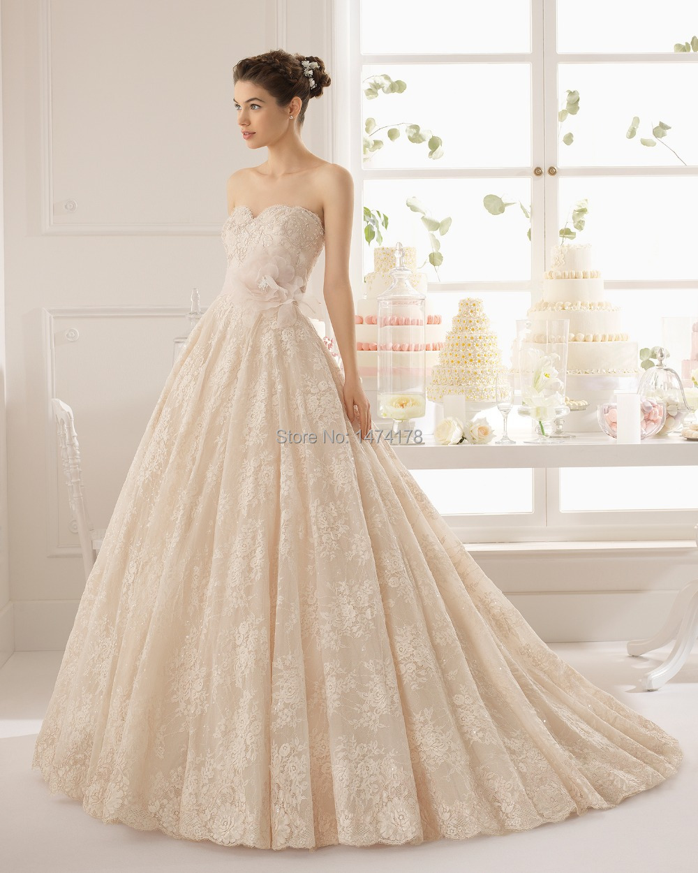 2015 Princess style wedding dress RSE 001 Strapless sweetheart ...