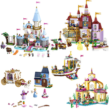 Dream Princess Elsa Ice Castle Princess Anna Figures Model Building Blocks Friends City House Bricks Toys Girls Gift стоимость