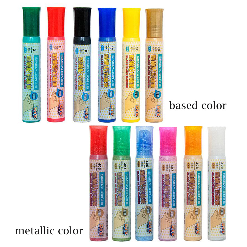 Simbalion Glass Paint Marker For Parents Child Campaign Stereograph On Window Metal Color Ceramic Markers Kids Diy Decorate Door