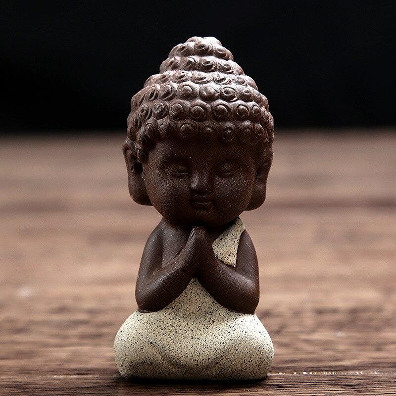 Kleine Buddha-Statue Mönch Figur Tathagata Indien Yoga Mandala - Wohnkultur - Foto 3