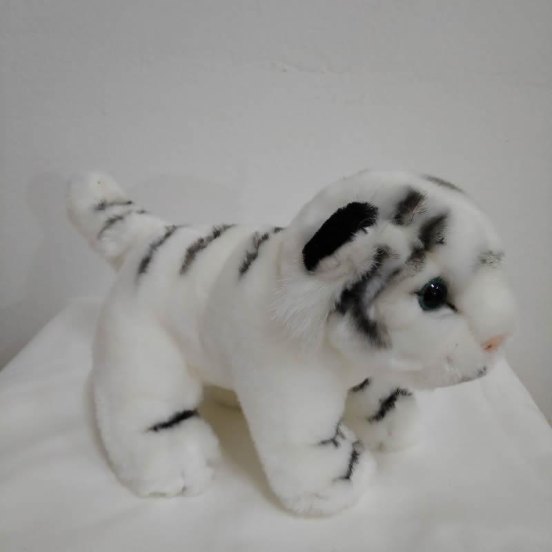17cm White Tiger Plush Toy Very Cute Baby Tiger Cub Stuffed Animal