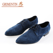 GRIMENTIN top quality leathr business suede leather shoes mens