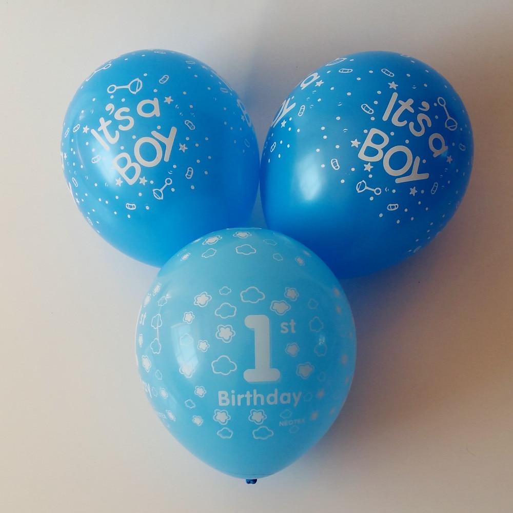 35pcs/lot Birthday balloon One year balloon Boy Children's Day gift Birthday par