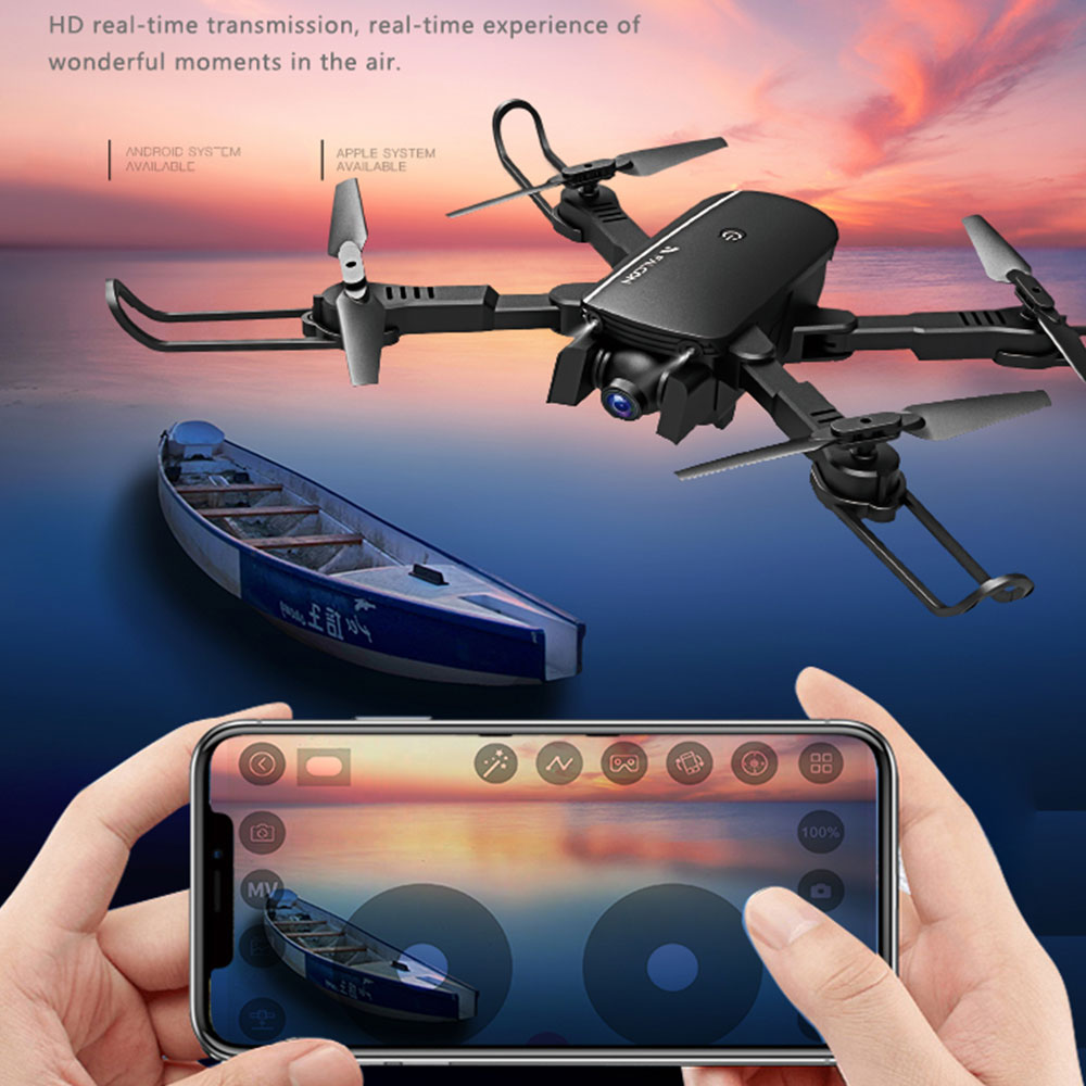 1808 WIFI FPV With 4K Wide Angle Camera Optical Flow Altitude Hold Mode Foldable RC Camera Drone Quadcopter1808 WIFI FPV With 4K Wide Angle Camera Optical Flow Altitude Hold Mode Foldable RC Camera Drone Quadcopter