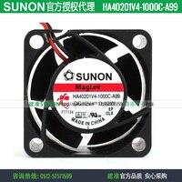 חדש SUNON HA40201V4-1000C-A99 4020 12 V 0.42 W שתיקה קירור מאוורר