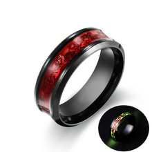 Bright Stainless Steel Mens Three colors to choose Personality Ring Fashion Jewelry Wholesale