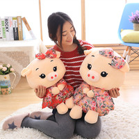 Creative Plush Toy Large 50cm Cartoon Pig Plush Toy Dressed Japanese Kimono Soft Doll Throw Pilow