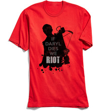 T Shirt Women Men Tshirt New Arrive The Walking Dead Paparazzi T-Shirt Rick Grimes Carl Daryl Michonne Zombies 3d Summer Tee Red цена 2017