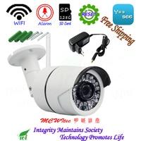 Metal Reset 1080P Wireless Security Camera ONVIF P2P IP Cam Night IR image 128G SD Card Outdoor Motion Alarm Water proof Wifi