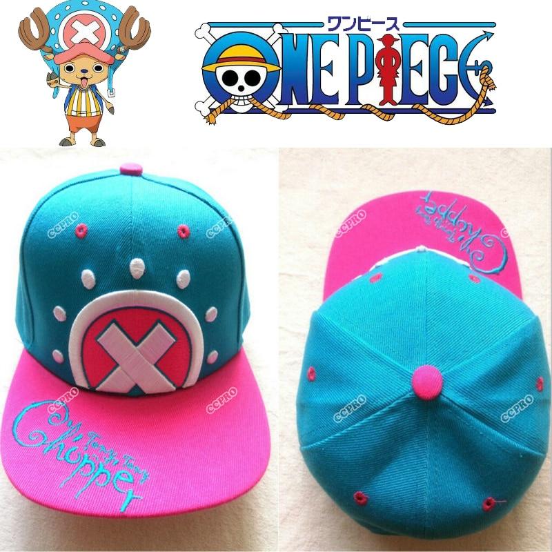 hip-hop Tony Tony Chopper ONE PIECE anime cosplay cartoon Japanese Hat Baseball caps Embroidery pattern