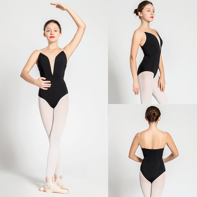 Ballet Leotards Adult New Style Black Sexy Comfortable Practice Dancing Clothes Women Gymnastics Leotard Cheap Ballet Dance Wear-in Ballet from Novelty & Special Use