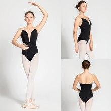 บัลเล่ต์ Leotards ผู้ใหญ่สไตล์ใหม่สีดำเซ็กซี่สบายฝึกเต้นรำเสื้อผ้าผู้หญิงยิมนาสติก Leotard ราคาถูกบัลเล่ต์เต้นรำสวม