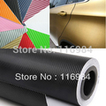 1 pcs x 30 CM x 1.27 Metro Folha 3D Fibra de Carbono Vinyl Envoltório Etiqueta Film 10 Cores