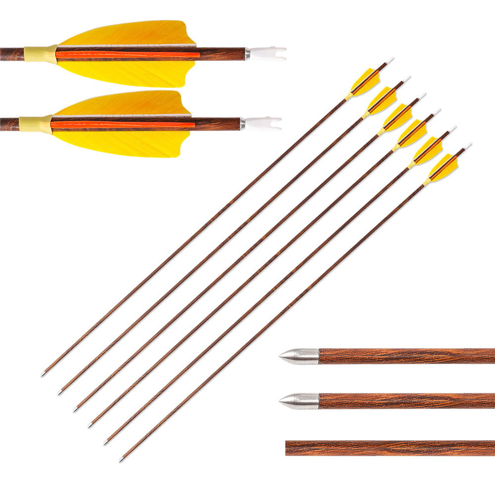 12pcs 30/'/' Length Archery Pure Carbon Arrows Shaft Handmade Linkboy Spine 500