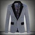 2016 новый бренд пиджак мужчины свободного покроя мужские пиджаки уменьшают подходящую одна кнопка мужчины пиджак 5XL мода одежда