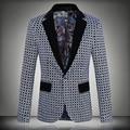 2016 New Brand Blazer Men Casual Suit Mens Blazers Slim Fit One Button Men Suit Jacket 5XL Fashion Clothing
