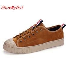Showmyhot Для мужчин дышащая мужская обувь Sapato masculino Для мужчин обувь удобные туфли на шнуровке из лакированной кожи низкая обувь на плоской подошве