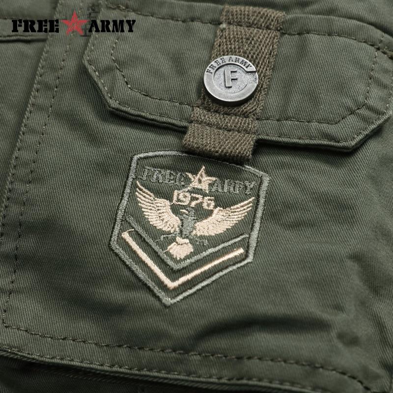 Znamka vojaške vojske zelene moške hlače 2018 novo bombažne - Moška oblačila - Fotografija 5