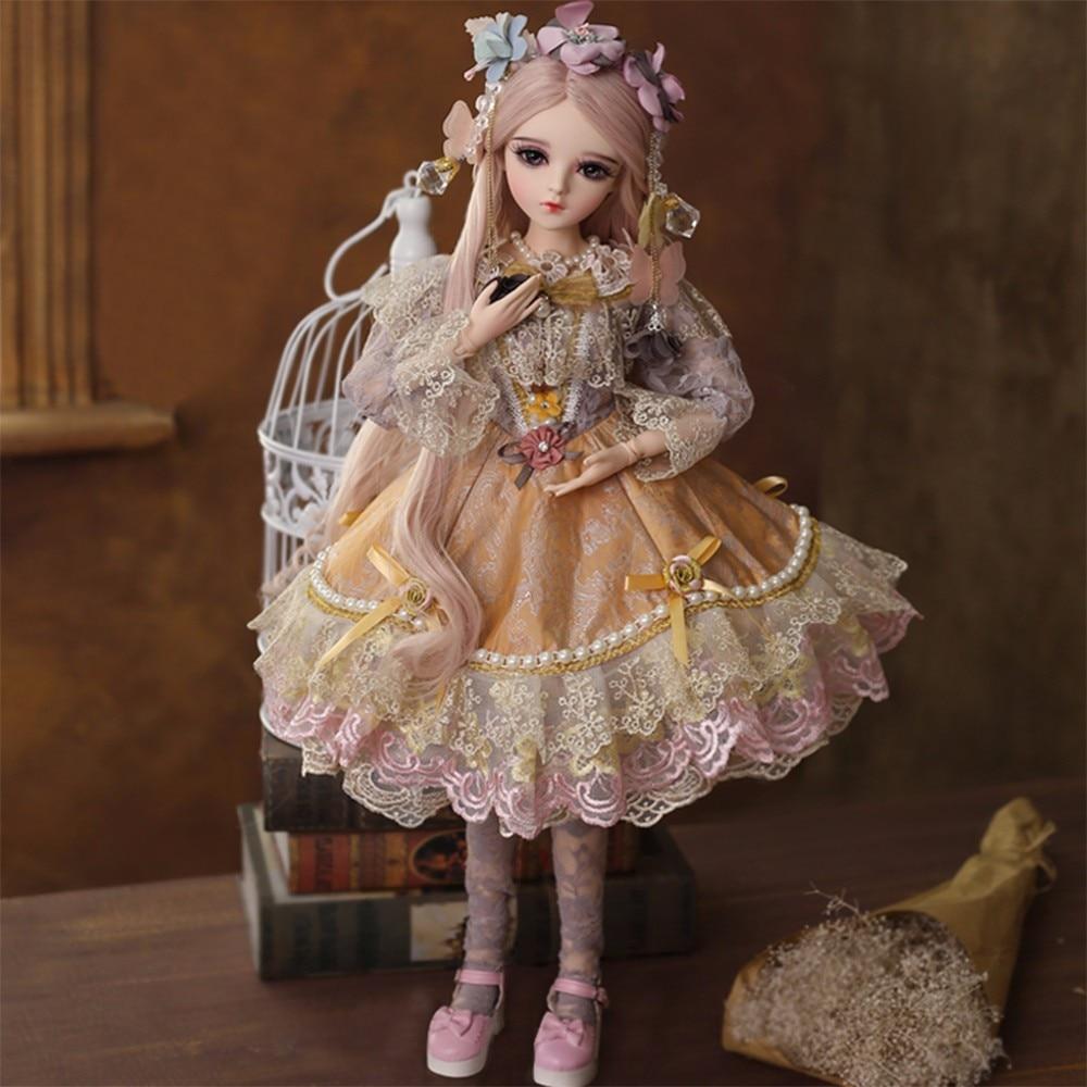 1 3 BJD Dolls Reborn BJD Silicone Baby Beautiful Retro Princess Lifelike Ball Jointed Body Stuffed