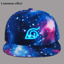 Anime Naruto Konoha Cotton Luminous Baseball Cap Anime Accessories Cosplay