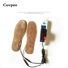 Covpee winter Warming USB Electric Powered Heated Insoles For Shoes Boots Keep Feet Warm New USB heated insole for men women недорого