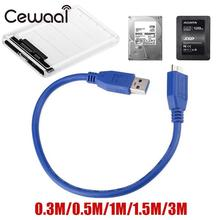 0.3m 0.5m 1m 1.5m USB 3.0 A To Micro B Cable External Hard Drive Disk Wire Adapter High Speed Hard Drive Cable