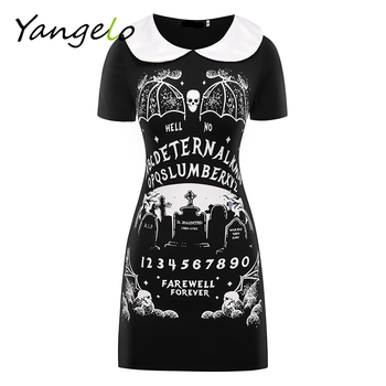 HARAJUKU DRESS PUNK BLACK FURIOUS FAITH DRESS GOTHIC 2018 NEW WOMEN DRESS