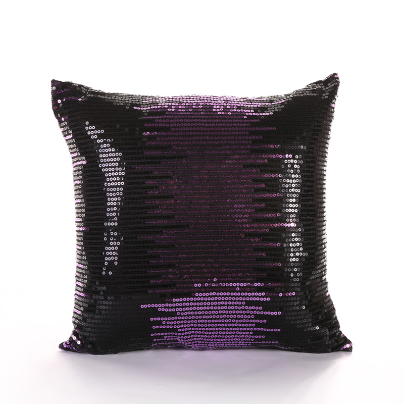 PANFELOU 45*45cm environmental purple sequins meteor shower Cushion Cover for sofa livingroom bedroom