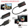 Free Shipping Slimport MyDp Displayport to HDMI Adapter HDTV Video Audio For LG G4 G3 G2 G Pro Google Nexus 4 E960 3D Full 1080P