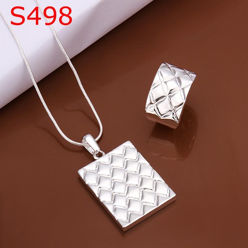 Großhandel Modeschmuck Set Gute Qualität Ss498 Nizza Schmucksachen 925 Silber Halskette Und Ring
