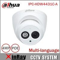 DaHua IP Camera IPC HDW4431C A POE Network Mini Dome Camera With Built In Micro Full