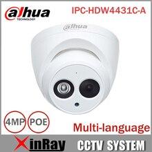 Dahua IP Камера IPC-HDW4431C-A PoE сеть мини купольная Камера со встроенным Micro Full HD 1080 P 4MP CCTV Камера
