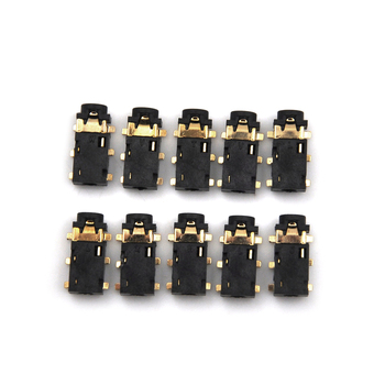 2.5mm 10pcs/lot Female Audio Connector 6 Pin SMT SMD Stereo Headphone Jack Socket PJ-242