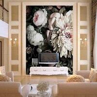 Photo Custom 3 D Wallpaper Oil Painting Large Murals Wall Paper On Sale Porch Corridor European